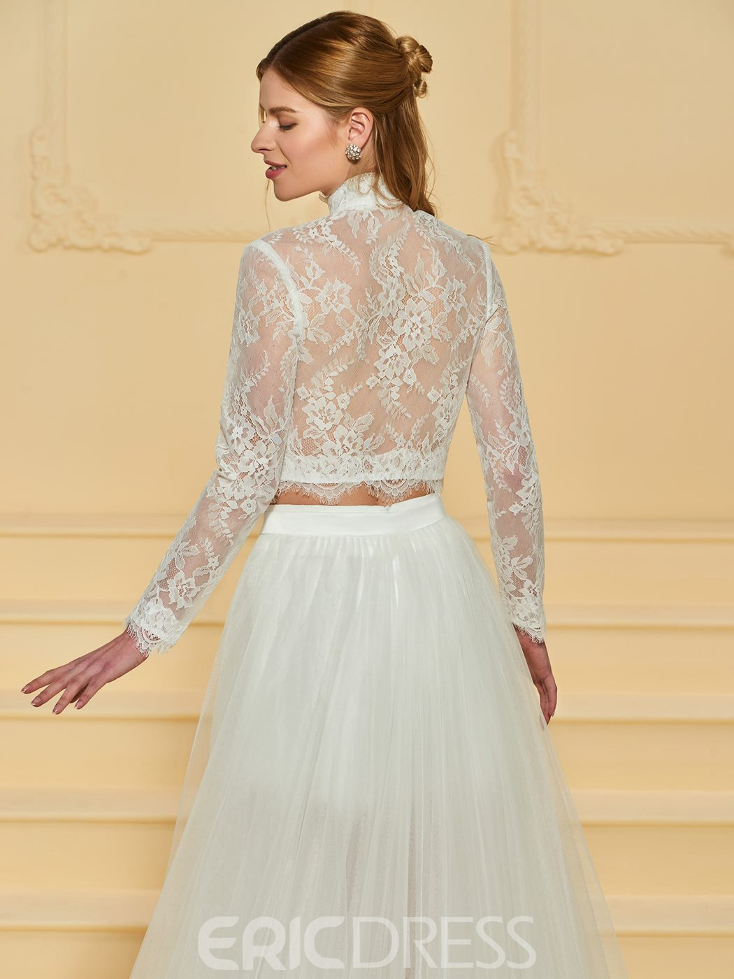 Ericdress Long Sleeves Lace High Low Wedding Dress