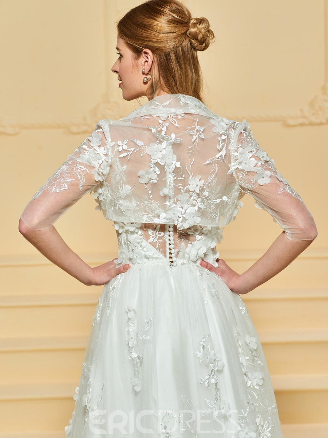 Ericdress A Line Tulle Wedding Dress with Jacket