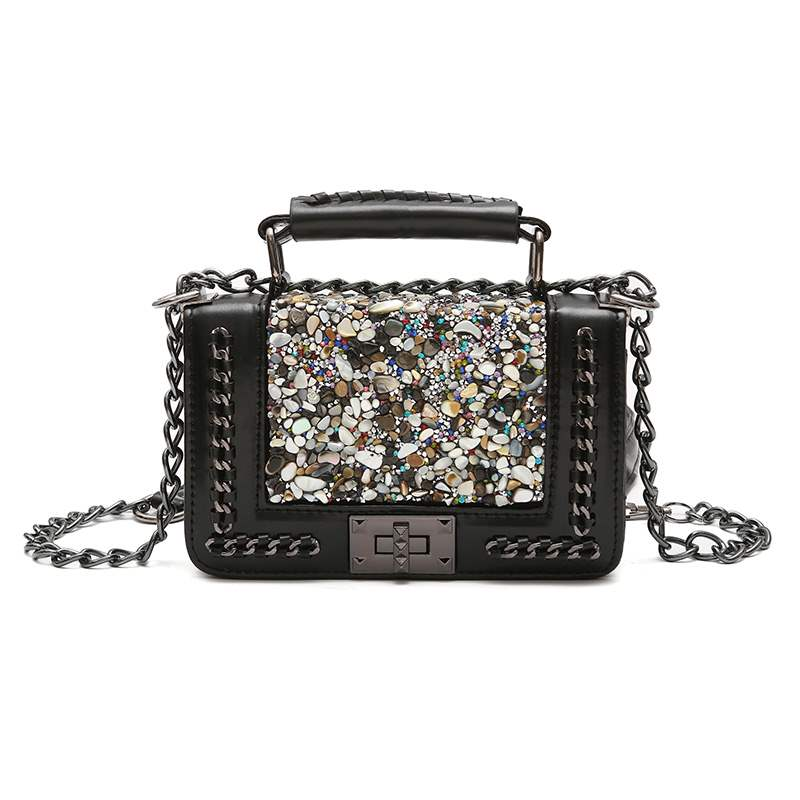 Ericdress Vintage Sequins Decoration Chain Crossbody Bag