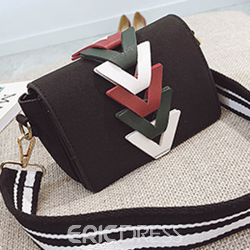 Ericdress Vintage Color Block Mini Crossbody Bag