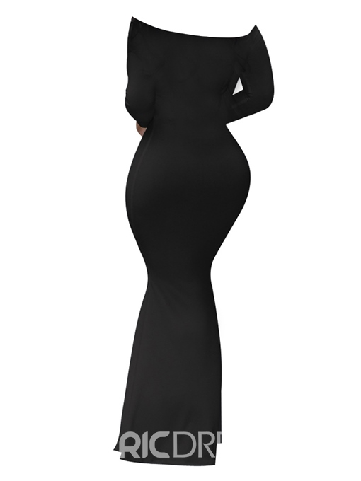 Ericdress Long Sleeve V-Neck Floor-Length Dress