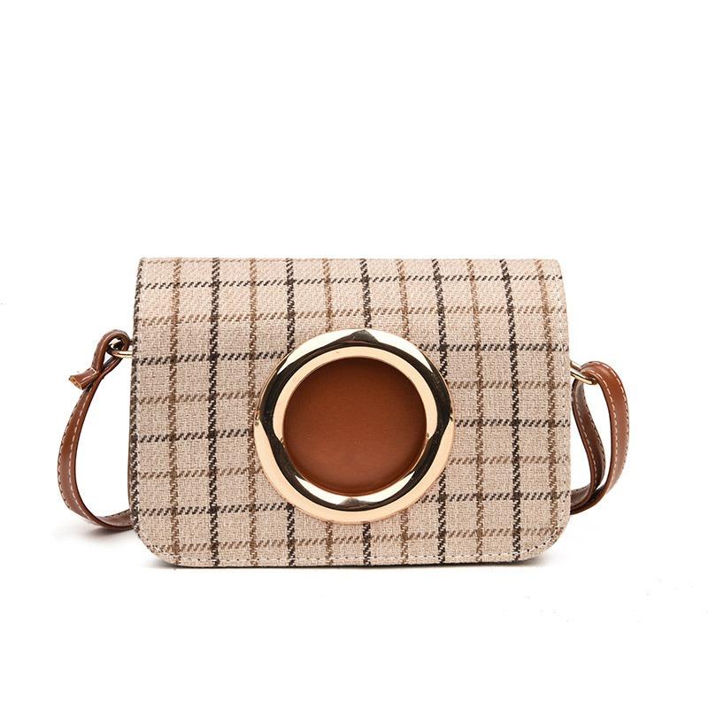 Ericdress Trendy Plaid Women Crossbody Bag