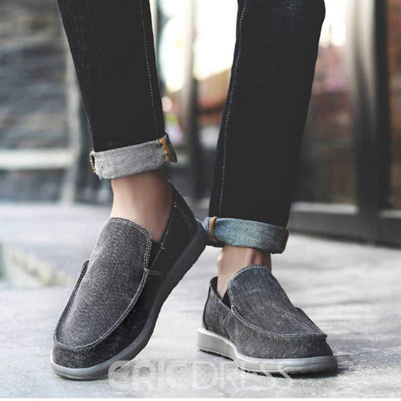 Ericdress Canvas Slip-On Low-Cut Men's Casual Shoes