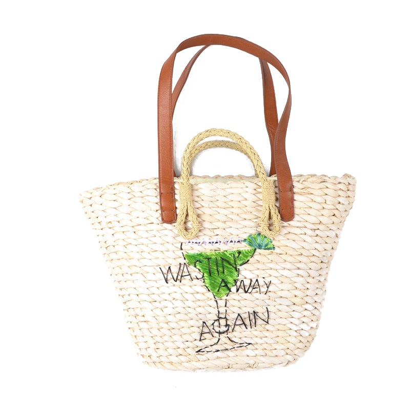 Ericdress Fashion Embroidery Straw Shoulder Bag