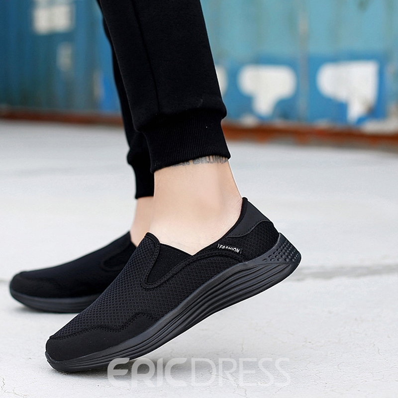 Ericdress Plain Round Toe Slip-On Men's Athletic Shoes
