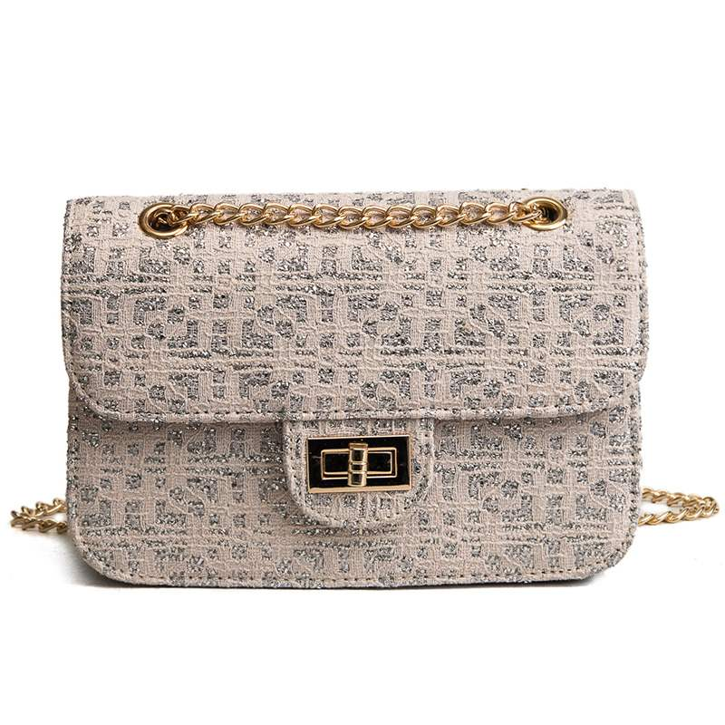 Ericdress Thread Chain Oxford Crossbody Bag