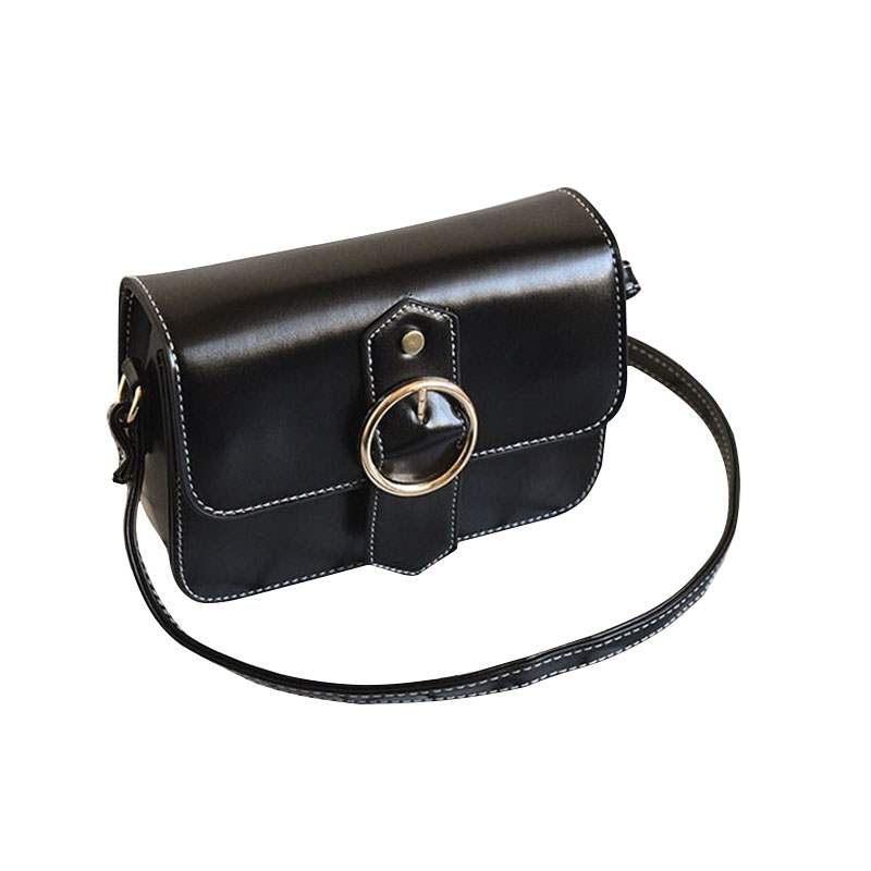 Ericdress Vintage Solid Color PU Women Crossbody Bag