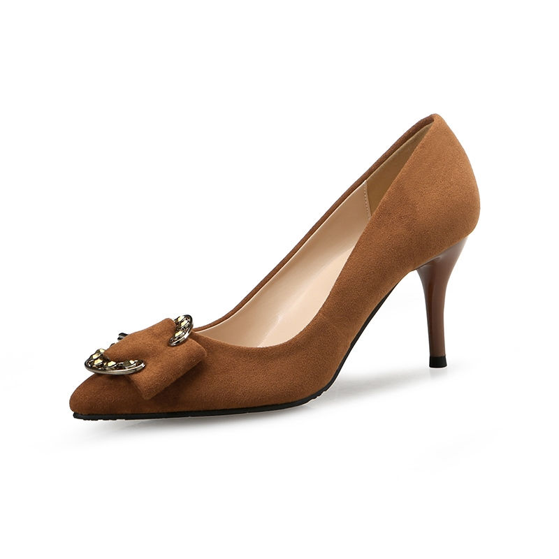 Ericdress Buckle Plain Slip-On Stiletto Heel Pumps