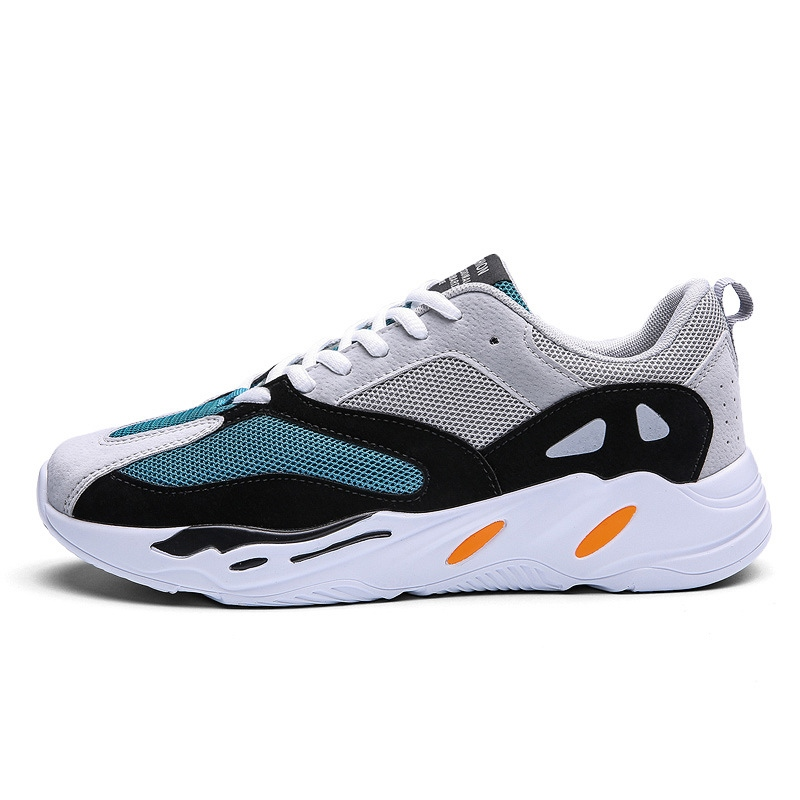 Mesh Color Block Low-Cut Men's Athletic Shoes