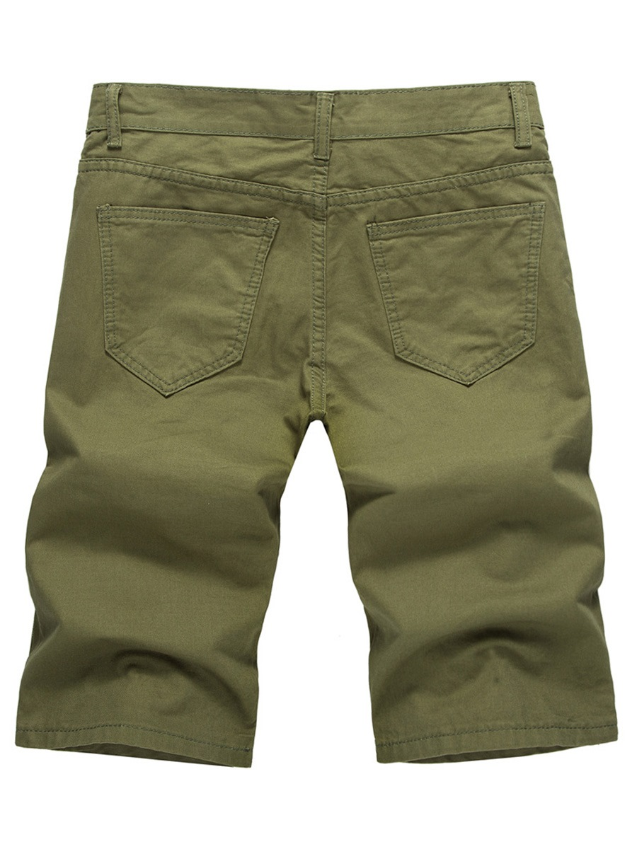 Ericdress Men's Plain Mid-Waist Cotton Shorts