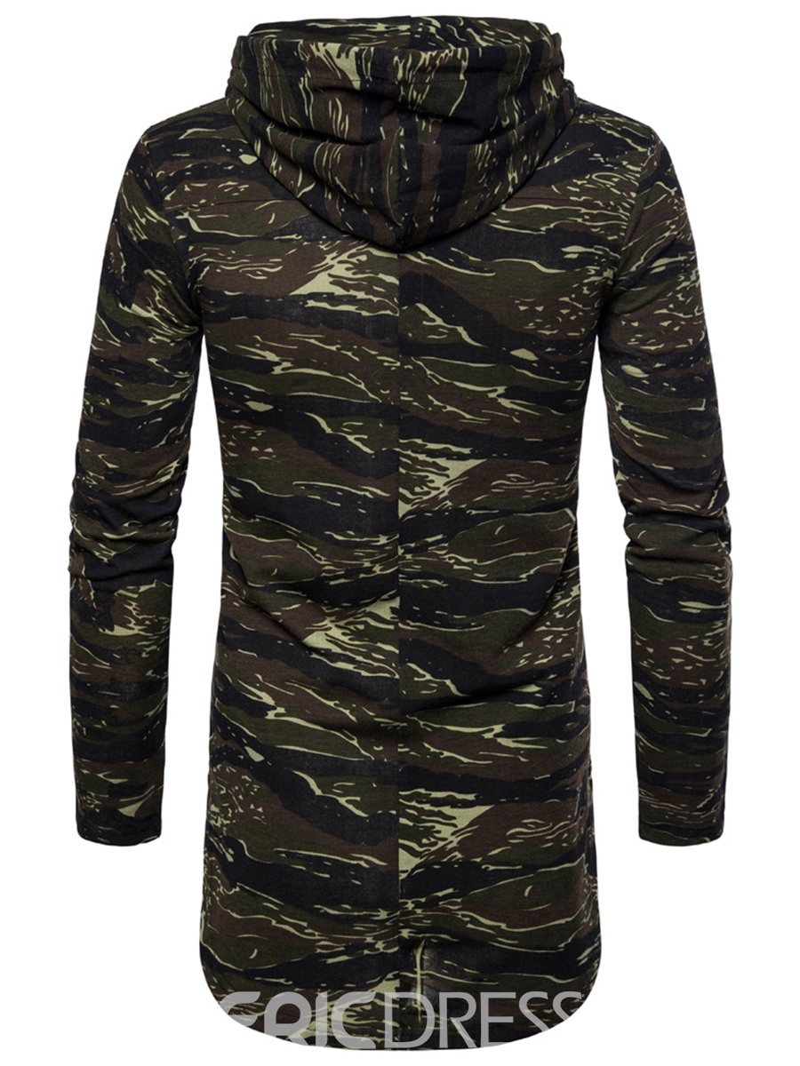 Ericdress Men's Camouflage Mid-Length Pullover Hoodies