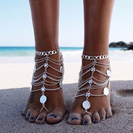 Ericdress Bohemian Style Retro Coin Beach Anklet For Women