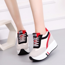 Ericdress Color Block Round Toe Lace-Up Women's Sneakers