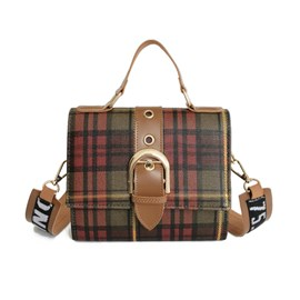 Ericdress Plaid Belt Decorated Women Crossbody Bag
