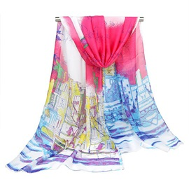 Ericdress Contrast Color Printed Scarf for Women