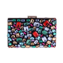 Ericdress Colorful Rhinestone Decoration Women Clutch