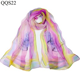 Ericdress Georgette Flower Printed Women's Scarf
