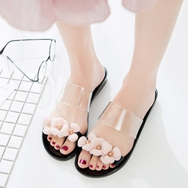 Ericdress Comfy Floral Slip-On PVC Sandals