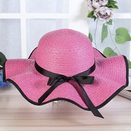 Ericdress Women's Bowtie Sunhat for Holiday