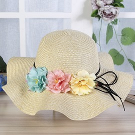 Ericdress Three Big Flower Women's Sunhat