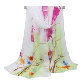 Ericdress All Match Printed Chiffon Scarf for Women