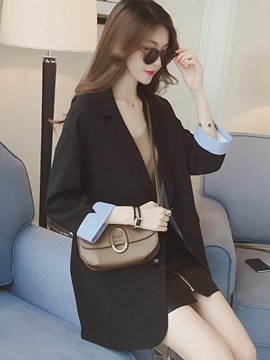 Ericdress Slim Lapel Single-Breasted Trench Coat