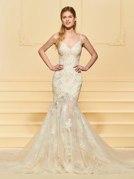 Ericdress Mermaid Lace Beading Wedding Dress