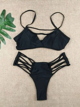 Ericdress Sexy Plain Hollow Bikini