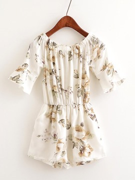 Ericdress Loose Floral Print Women's Rompers