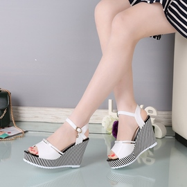 Ericdress Open Toe Ankle Strap Plain Wedge Sandals