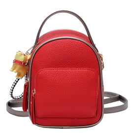 Ericdress Plain Soft PU Women Backpack