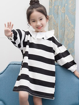 Ericdress Peter Pan Collar Lantern Nine Points Sleeve Baby Girl's Dress