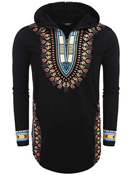 Ericdress Dashiki African Print Hooded Pullover Men's Hoodie