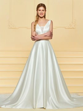 Ericdress A Line Backless Wedding Dress