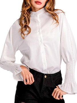 Ericdress Plain Single-Breasted Flare Sleeve Shirt