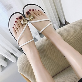 Ericdress Rhinestone Toe Ring Plain Mules Shoes