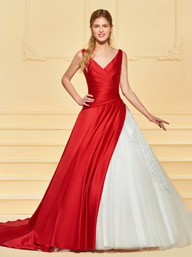 Colored wedding dresses red wedding dresses on sale ericdress ericdress ball gown color wedding dress junglespirit Images
