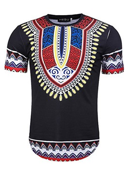 Ericdress Dashiki African Print Men's T-shirt