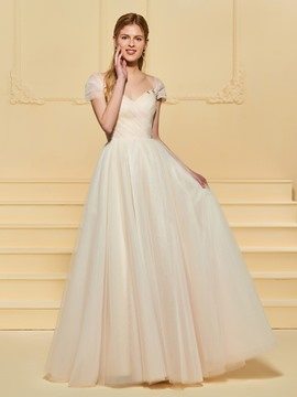 Ericdress Tulle A Line Color Wedding Dress