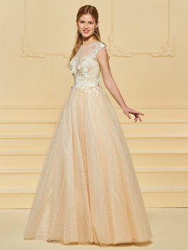 Ericdress Flowers Appliques Beading Outdoor Wedding Dress