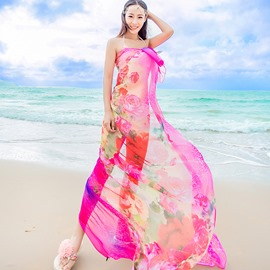 Ericdress Beautiful Printed Long Scarf for Beach