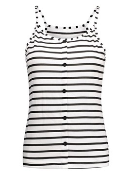 Ericdress Slim Stripe Button Vest