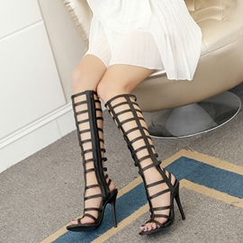 Ericdress Strappy High Shaft Plain Stiletto Sandals