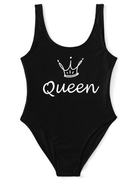 Ericdress Letter Print One Piece Bathing Suits