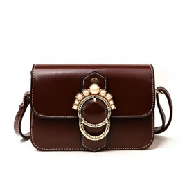 Ericdress Pearl Decoration Women Crossbody Bag