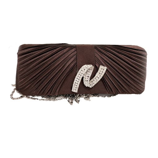 Ericdress Pleated Rhinestone Decoration Clutch