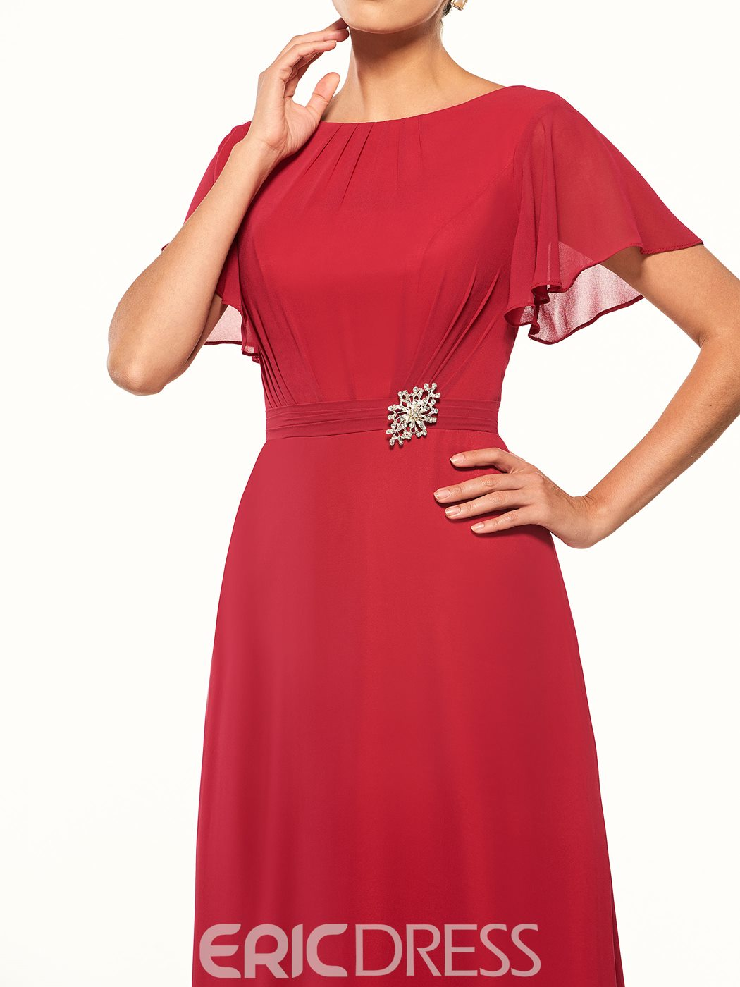 Ericdress Short Sleeves Long Mother of the Bride Dress