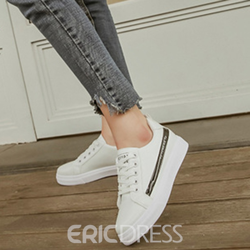 Ericdress Comfy Round Toe Lace-Up Women's Flats
