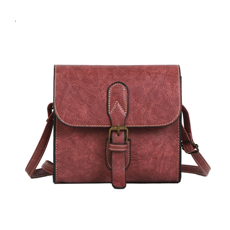 Ericdress Casual Solid Color Mini PU Crossbody Bag