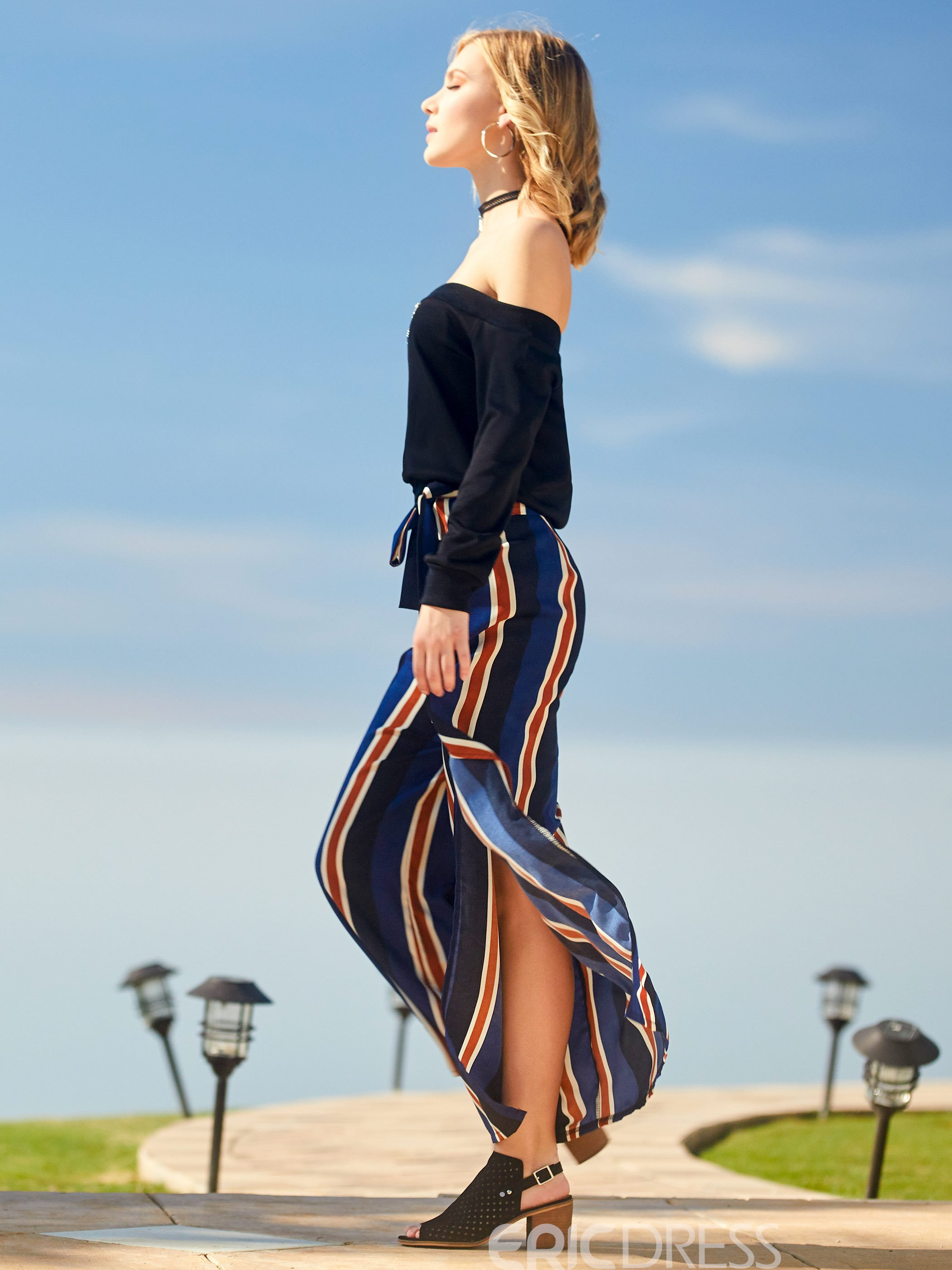 Ericdress Fashion Striped Pants